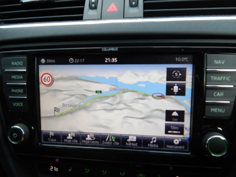 Navigace Škoda Columbus - postřehy z Expedice Nordkapp